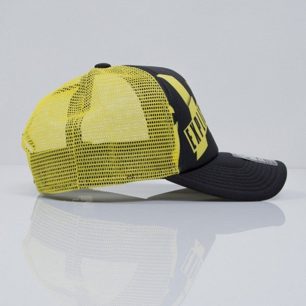 Starter cap Parental Advisory CAUTION TRUCKER black / yellow (PA-026)