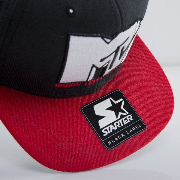 Starter snapback MTV Icon Logo 3T black/red MT-002