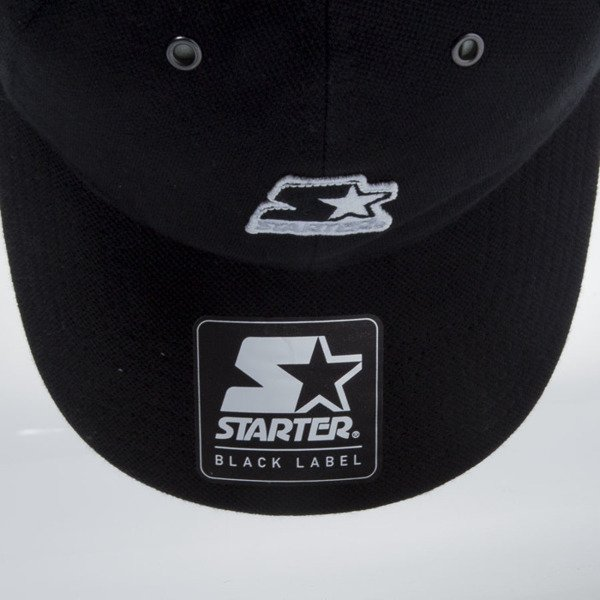 Starter strapback cap Pique Series Pitcher black / silverwolf grey  ST-1166