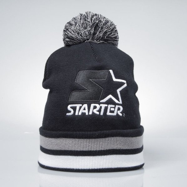 Starter winter beanie Cotton True Knit black / white  ST-1214