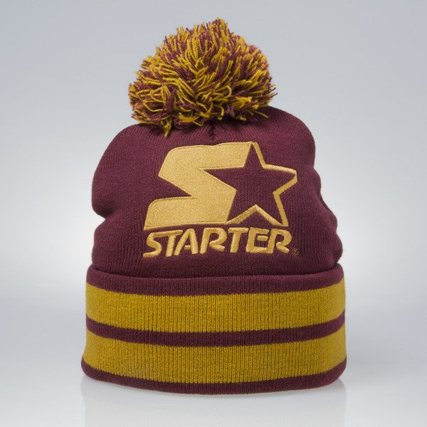 Starter winter beanie True Knit burgundy / mustard (ST-436)