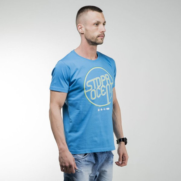 Stoprocent t-shirt Neon 2 blue