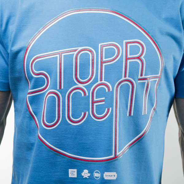 Stoprocent t-shirt Neon blue