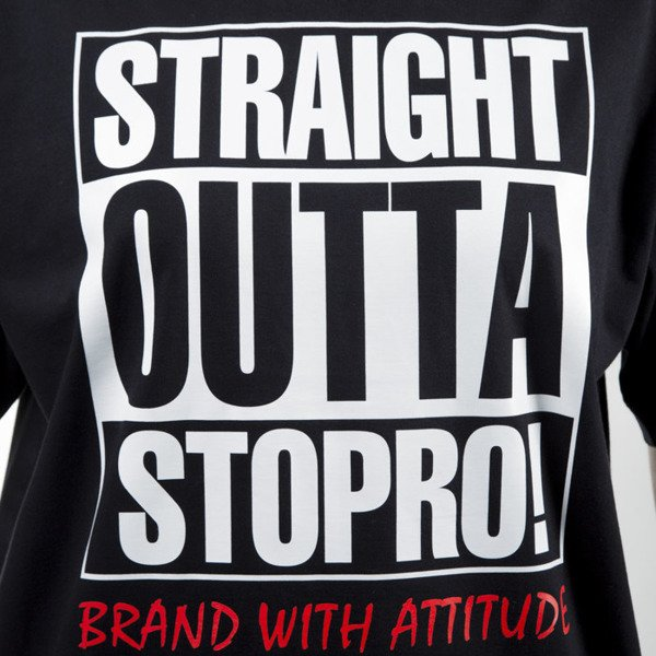 Stoprocent t-shirt Straight black