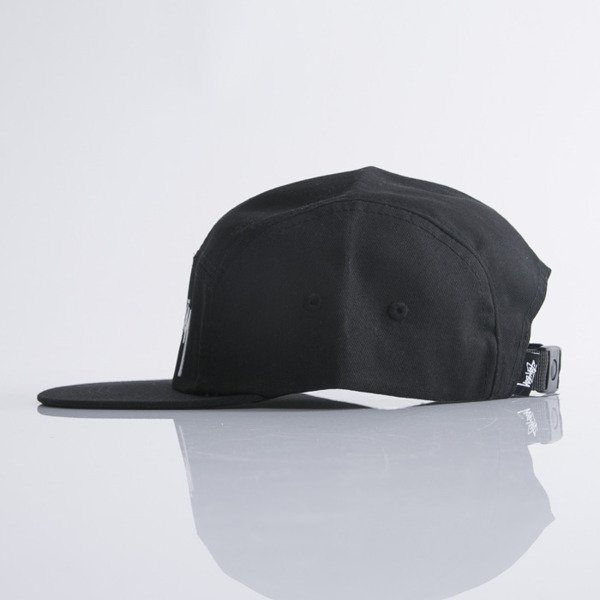 Stussy 5panel Cap Stock Camp black