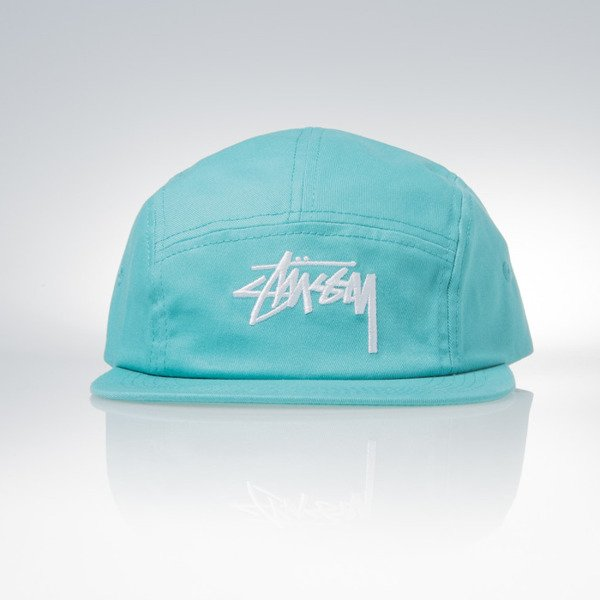 Stussy 5panel Cap Stock Camp teal