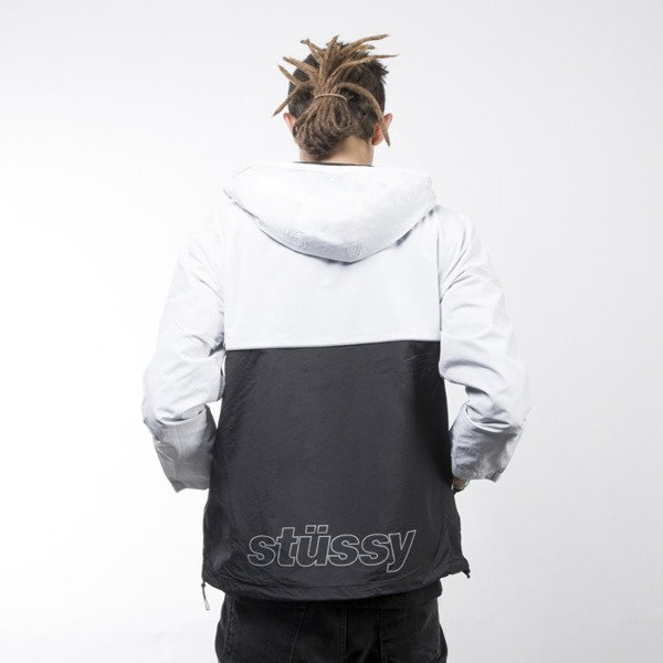 Stussy Reflective Sports Pullover white