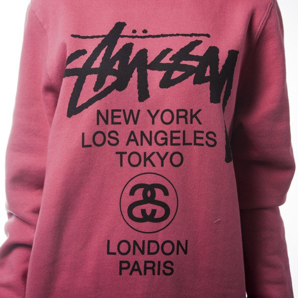 Stussy World Tour Crew salmon WMNS