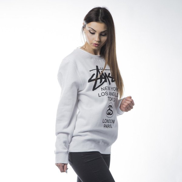 Stussy World Tour Crew white WMNS