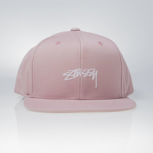 Stussy snapback cap Smooth Stock Enzyme rose