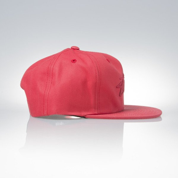 Stussy snapback cap Stock Pigment red