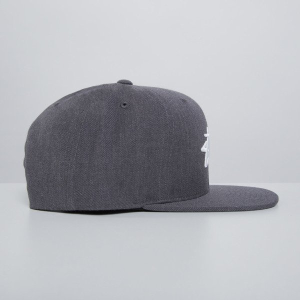 Stussy snapback cap Stock charcoal heather