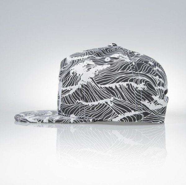 Stussy snapback cap Waves black