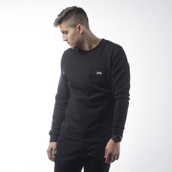 Stussy sweatshirt Back Arc Crew black