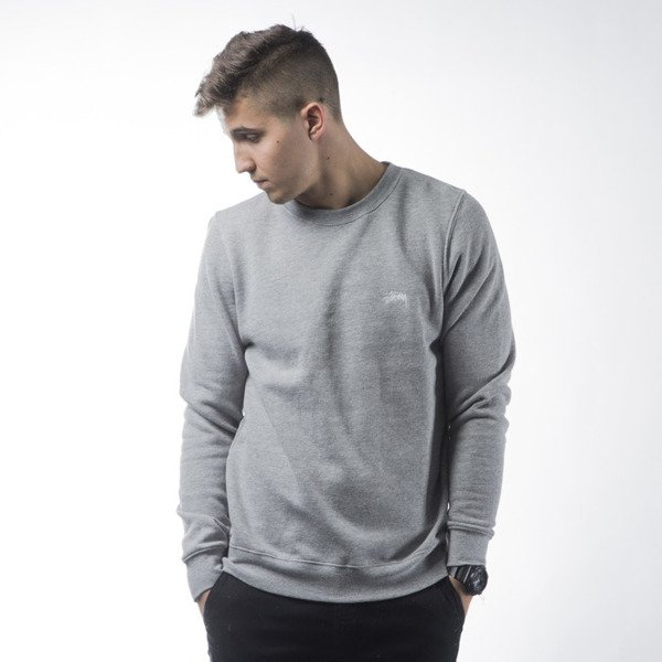 Stussy sweatshirt Back Arc Crew grey heather