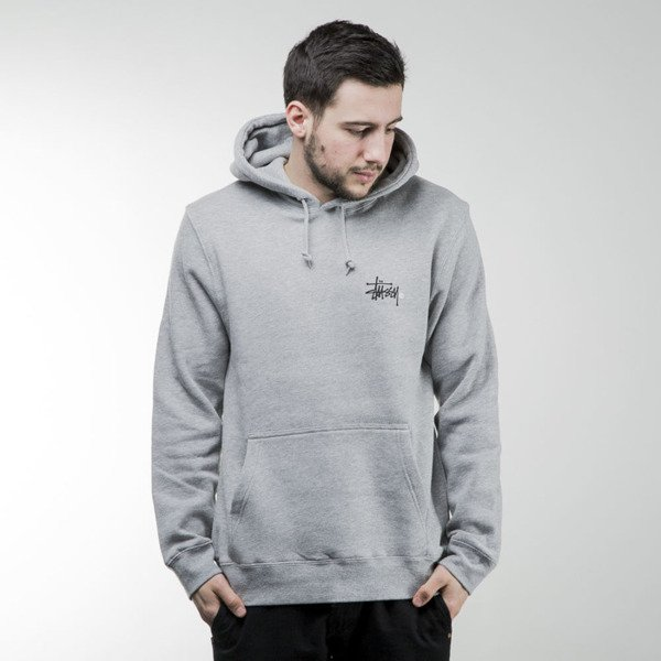Stussy sweatshirt Basic Logo hoody grey heather