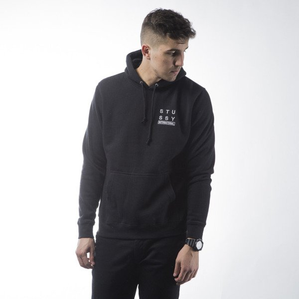 Stussy sweatshirt City Stack black