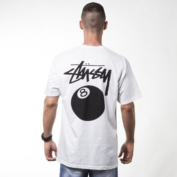 Stussy t-shirt 8 Ball white