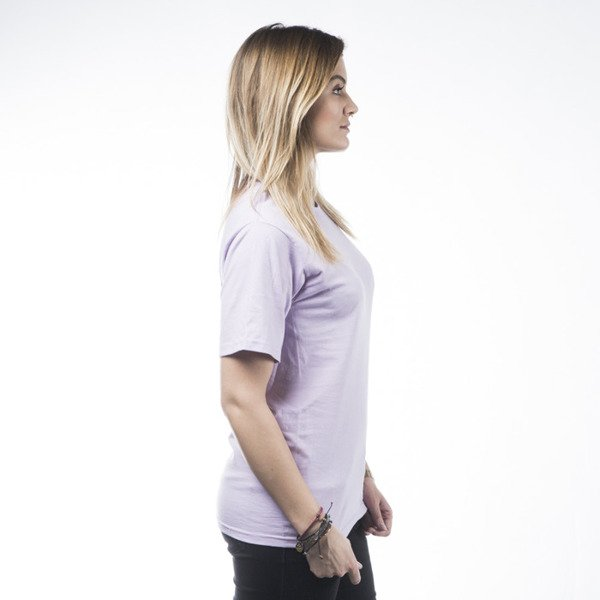 Stussy t-shirt Basic Logo light purple WMNS