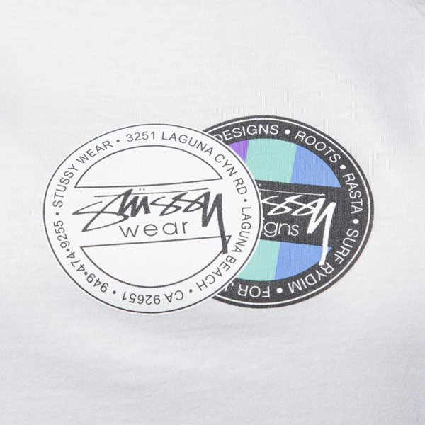 Stussy t-shirt Double Dot Cuffed Crew white WMNS