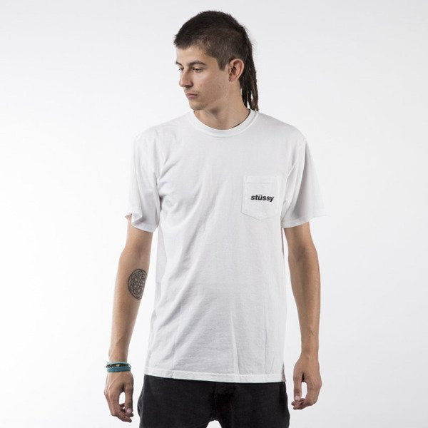 Stussy t-shirt Shift PKT white