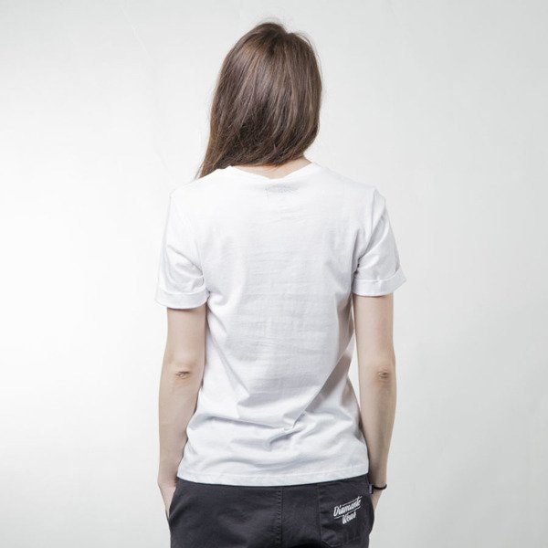 Stussy t-shirt Stamped Cuffed Crew white WMNS