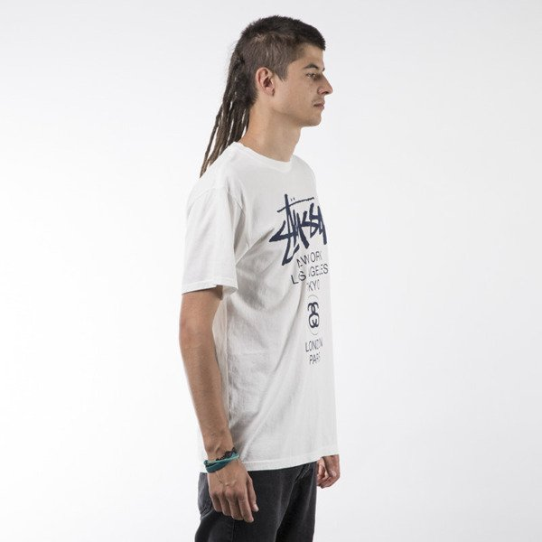 Stussy t-shirt World Tour Pigment Dyed natural