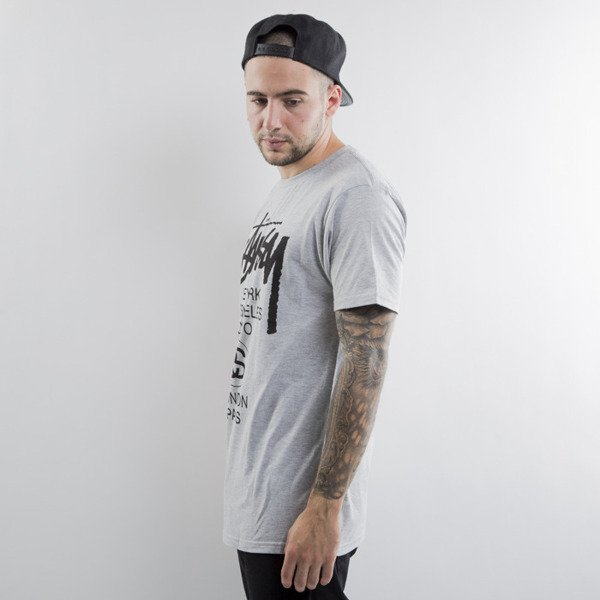 Stussy t-shirt World Tour grey heather