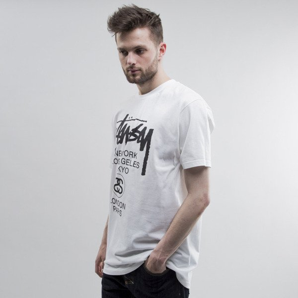 Stussy t-shirt World Tour white