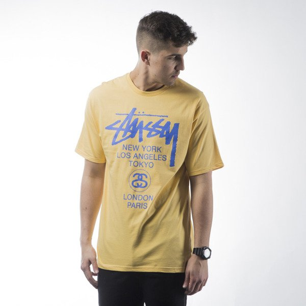 Stussy t-shirt World Tour yellow