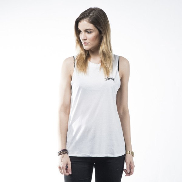Stussy tank top 3 Palms Muscle white WMNS