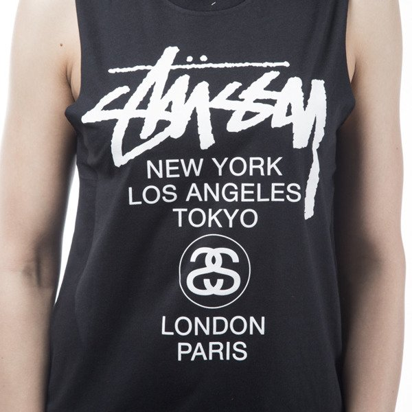 Stussy tank top World Tour Muscle black WMNS