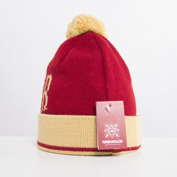 Turbokolor Beanie red / yellow