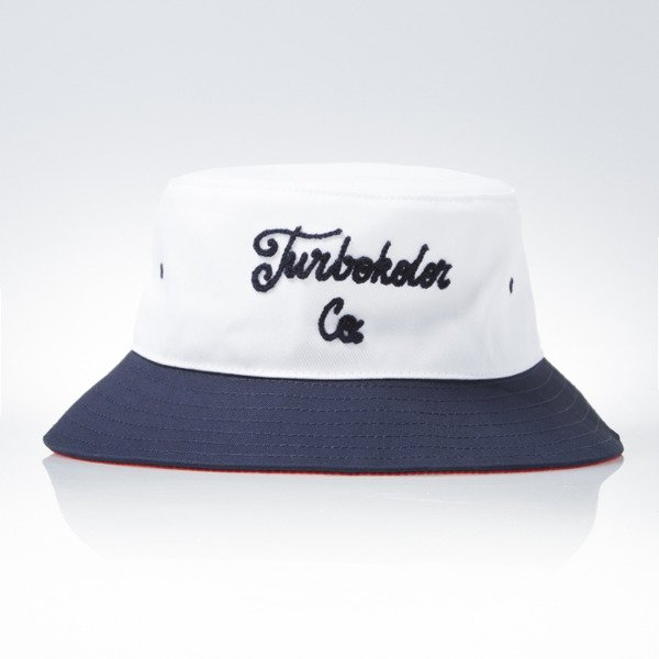 Turbokolor Bucket Hat white / navy / red