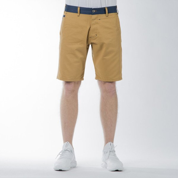 Turbokolor Chino Shorts olive / ocean blue SS16