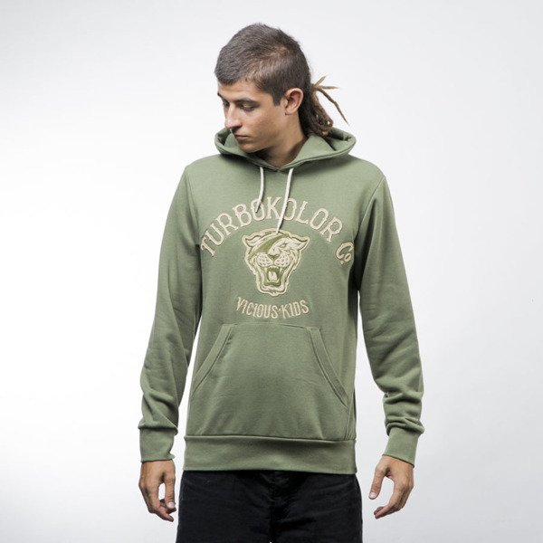 Turbokolor Hoodie Tiger green