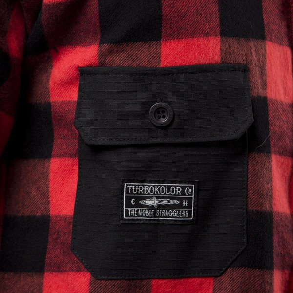 Turbokolor TNS Flannel Shirt red / black ss16