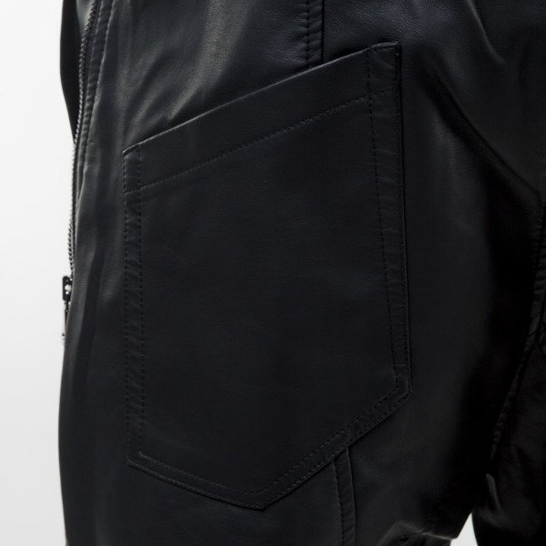 Urban Classics Deep Crotch Leather Imitation Pants black TB826