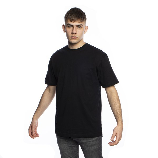 Urban Classics Long Shaped Flanell Bottom Tee black / black-white (TB1098)