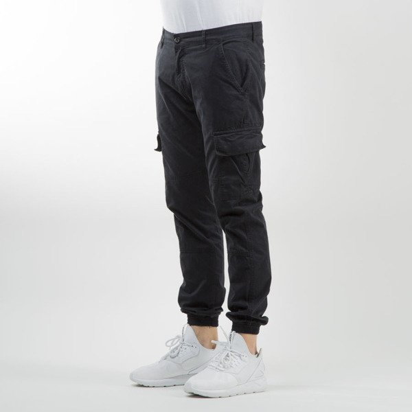 Urban Classics Washed Cargo Twill Jogging Pants black TB1435