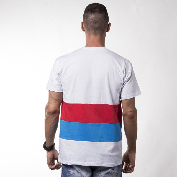 We Peace It X Unleashed T-shirt Trouble white / red / blue