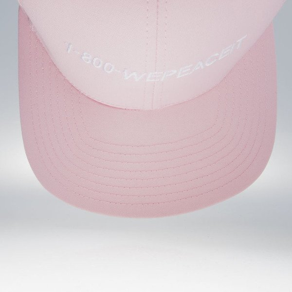 We Peace It snapback 1-800 WEPEACEIT light pink WMNS