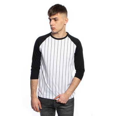 Urban Classics Long Shaped Flanell Bottom Tee black / black-red (TB1098)