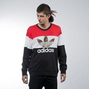 Adidas Originals bluza  sweatshirt Bloc It Out crewneck black (AY8614)