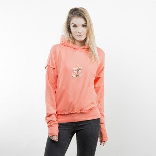 Admirable bluza hoodie Corrupted Kiss WMNS coral