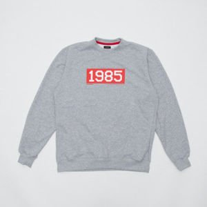 "Backard Cartel bluza sweatshirt Rasmentalism ""1985"" crewneck light heather grey"
