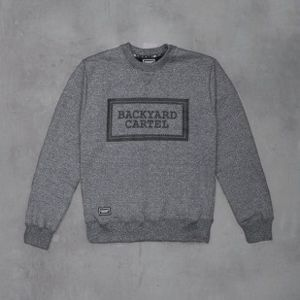Backyard Cartel bluza Label Logo Crew  heather grey