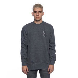 Backyard Cartel bluza Rugged crewneck long fit dark heather grey