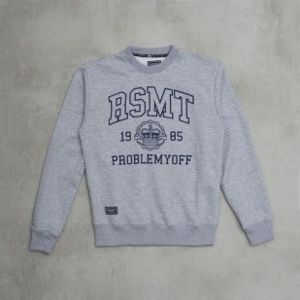 Backyard Cartel bluza crewneck RSMT x BYC x Bludshop Problemy OFF light grey heather
