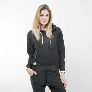 Backyard Cartel bluza sweatshirt Back 2 Back Hoody Womens washed black QUICKSTRIKE